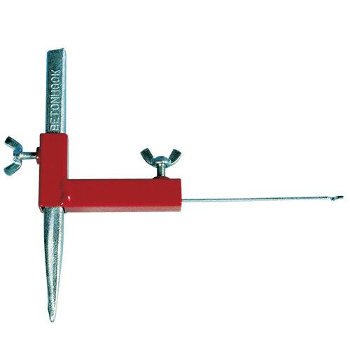 Senkloteinrichter rot, 1 Stück von KARL DAHM. Betonschnureisen nicht im Lieferumfang enthalten. Für Bertool Schnureisen Art. 10170 von KARL DAHM