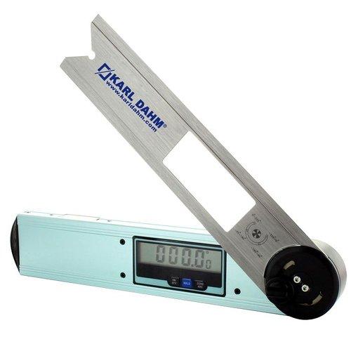 Winkelmesser digital 360° für Fliesenleger - Blauer Winkelmesser mit digitaler Anzeige