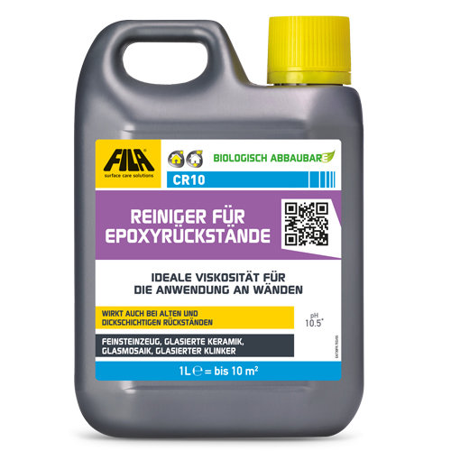 Epoxidfugenmörtel und Epoxidrückstände von Fliesen entfernen - Epoxidreiniger KARL DAHM