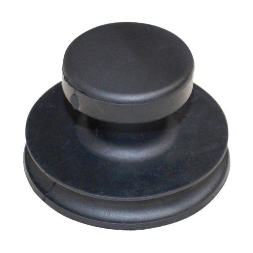 Schwarzer mini Saugheber für glatte Oberflächen bis 20 kg