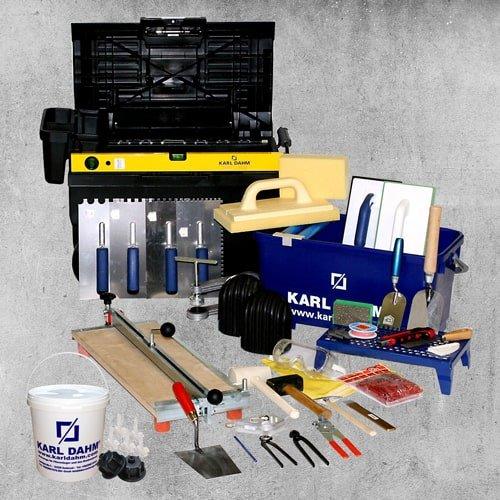 Fliesenleger Werkzeug - Ausrüstung Einsteigerset
