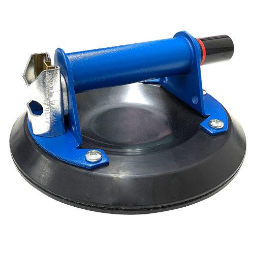 Pumpsaugheber blau schwarz mit Pumpe für große Fliesen | mit 3-fach Dichtlippe | Metallausführung - neu bei KARL DAHM