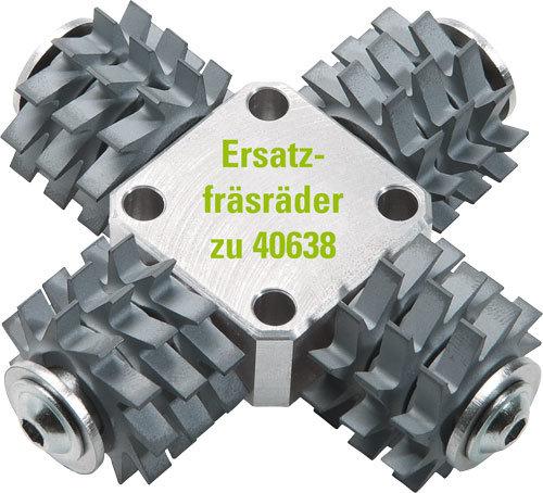 12 Ersatz-Fräsräder für Fräskopf flach