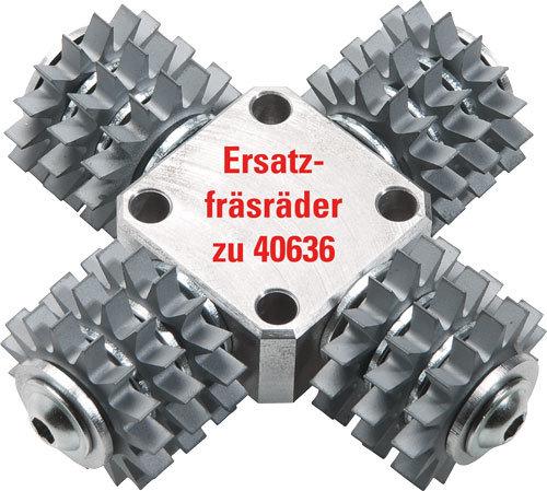 12 Ersatz-Fräsräder für Fräskopf spitz
