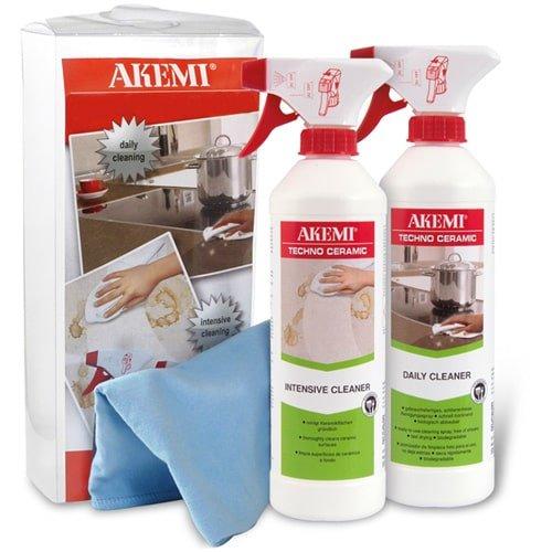 Profi Reinigungs-Set für Keramikoberflächen | AKEMI Reiniger Daily und Intensive, für High-Tech Keramikoberflächen wie Küchenplatten etc.
