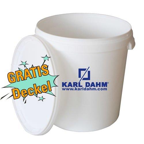 Anrühreimer weiß, 33 Liter mit Deckel günstig kaufen bei KARL DAHM