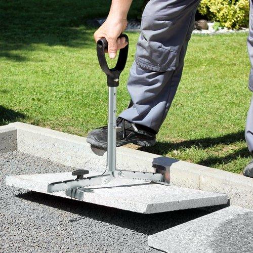Ersatz-Haltebacken für Plattenheber mit langem Griff | Rückenschonend Terrassenplatten verlegen mit KARL DAHM