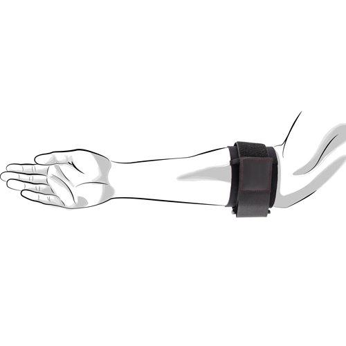 Unterarmbandage Größe L/XL für den rechten Unterarm. Mit einer Hand zu fixieren. Stützt und entlastet