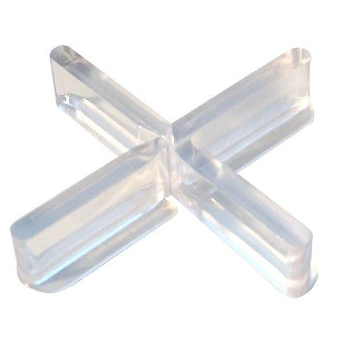 Fliesenkreuze 5 mm Fuge, transparenter Kunststoff mit abtrennbarem Flügel für die Verlegung im Randbereich - Jetzt im KARL DAHM Onlineshop