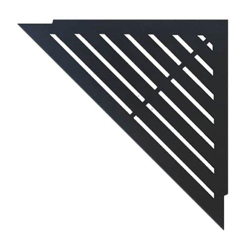 """Duschablage """"Classic"""" Design schwarz mit pulverbeschichteter Oberfläche für den Einbau in Dusche oder Badewannenecke. Shampoo und Duschgel immer griffbereit"""
