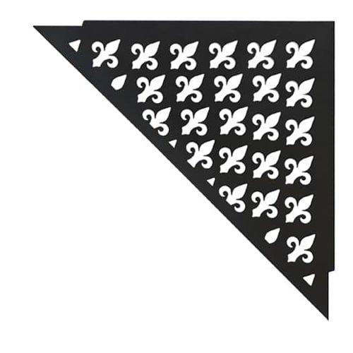 """Duschablage schwarz, pulverbeschichtet mit """"Vintage-Muster"""", das gleichzeitig als Wasserablauf dient. Jetzt bei KARL DAHM bestellen"""
