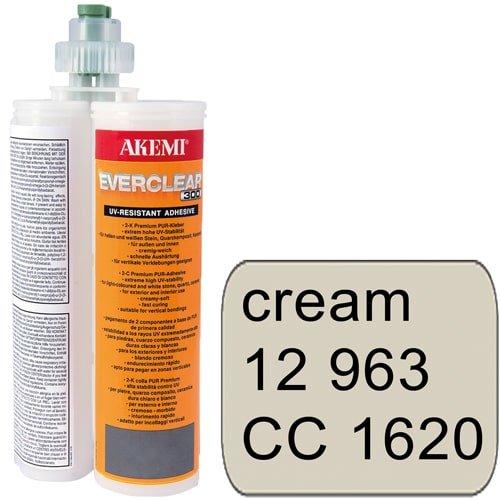 2-Komponenten-Farbkleber Akemi Everclear - Kartusche 400 ml, creme Art. 12963