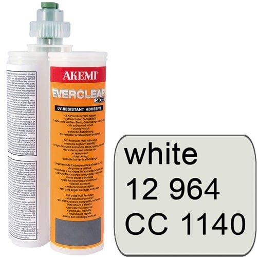 Everclear 2-Komponenten-Farbkleber, weiß Art. 12964 - Kartusche mit Mischdüse