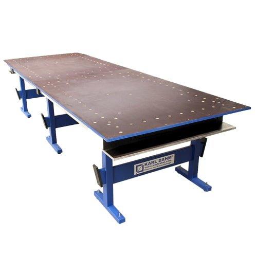 Schneidtisch Großformat 354 x 124 cm für Werkzeuge und Fliesen. Große Ablagefläche, perfekt für Fliesenleger