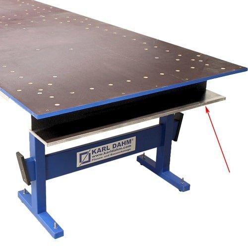 Werkzeughalterung/Ablage zusätzlich montierbar für den Profi Schneidtisch für Großformate von KARL DAHM. Jetzt bestellen