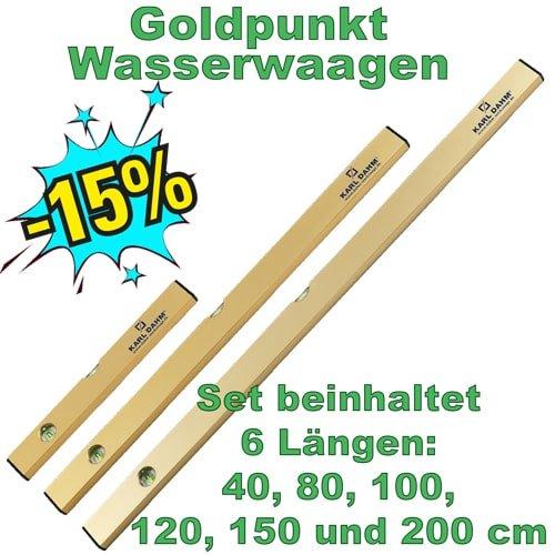 Goldpunkt Wasserwaagen-Set, Art. 15258, 6 Wasserwaagen