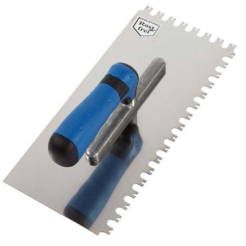 Zahnkelle-Fliesenkelle-Glaettekellen-Fliesenlegerwerkzeug, 12/12 mm
