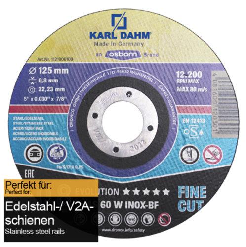 Metallsägeblatt V2A extra dünn Ø125 mm