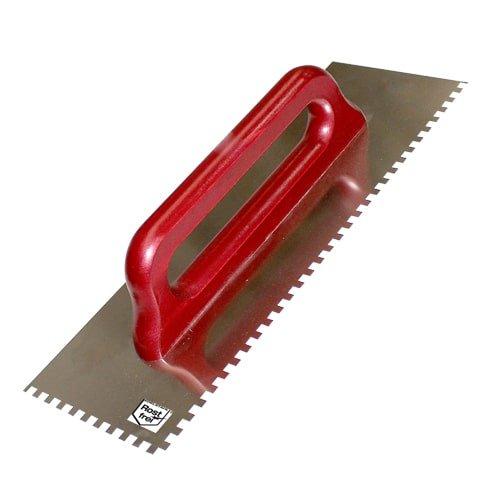 Zahnglättekelle 10 mm/ 380 mm rostfrei
