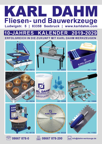 10-Jahres Kalender Karl Dahm
