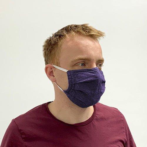 Schutzmaske lila, Atemschutzmaske, wiederverwendbare Schutzmaske für Mund und Nase, Maske selbstgenäht - KARL DAHM
