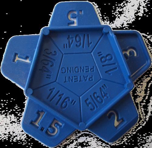 Stern Fugenabstandshalter 0,5-3 mm, 50 Stück, Art. Nr. 16743
