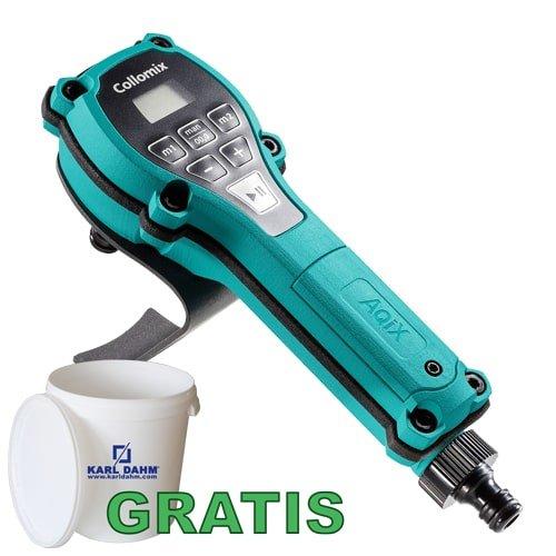 AQIX | Mobiles Wasserdosiergeraet von Collomix inkl. Eimer und Deckel