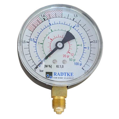 Analogmanometer Ersatzteil zu CM-Feuchtemessgerät von KARL DAHM | Restfeuchte in Estrich messen | Ersatzteil Analog-Manometer KARL DAHM Messgeräte