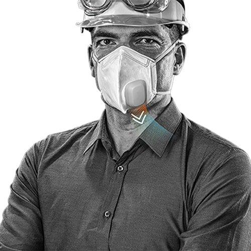Maskenventilator Active zu Staubschutzmaske Active