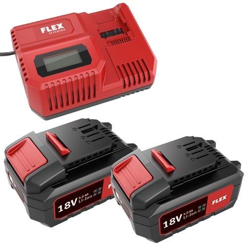 Akku-Set FLEX mit 2 Akkus á 18 V und 5,0 Ah zu FLEX Akku-Serie