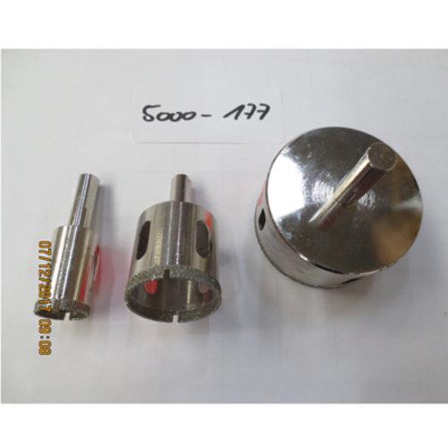 Diamantbohrkronenset Ø 20 mm, 35 mm, 65 mm Bitaufnahme, Art.-Nr. 5000-177
