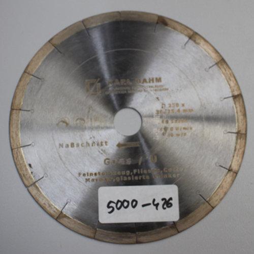 Diamanttrennscheibe Ø 250 mm Feinsteinzeug 5000-426