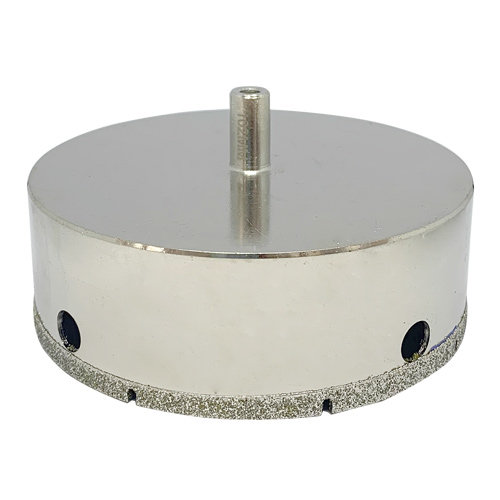 Diamant-Hohlbohrer 102 mm, galvanisch belegt, mit Rundschaft für die Bohrmaschine. Nass verwenden! KARL DAHM Diamantwerkzeuge