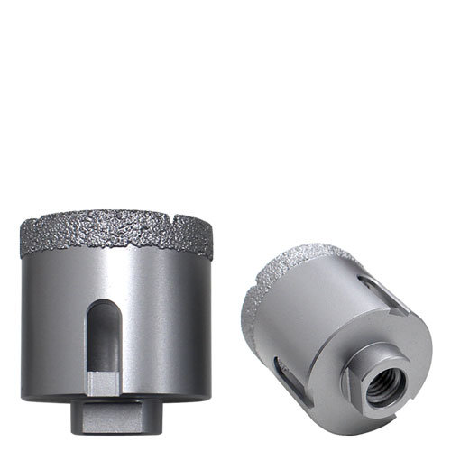 Dry-drilling core bit