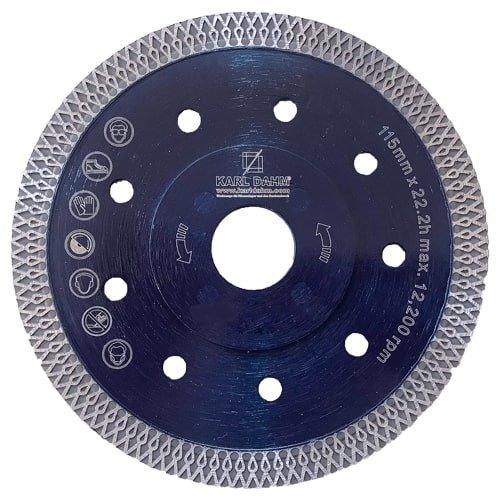 Diamantscheibe Turbo Rim blau, KARL DAHM | 115 mm Durchmesser. Günstig kaufen bei KARL DAHM