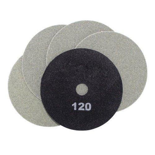 Schleifscheiben schwarz, Ø 100 x 15 mm, Körnung 120, 5 Stück, Art.-Nr. 50496