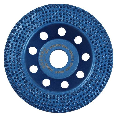 Diamantschleiftopf - Blauer Schleiftopf mit Diamant-Spikes 125mm für drehzahlregulierbare Winkelschleifer oder Betonschleifer.