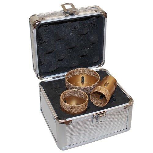 Diamant-Trockenbohrkronen Set in Gold Art. 56203