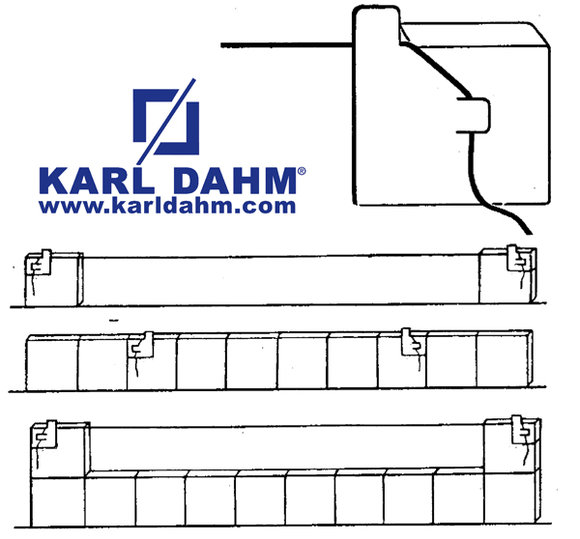 Fliesenhexe zum Verlegen von Fliesen ohne Anzeichnen - Eine Erfindung von KARL DAHM
