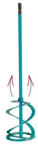 Rührer Collomix mit Hexafix Aufnahme