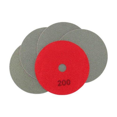 Schleifscheiben rot, Ø 100 x 15 mm, Körnung 200, 5 Stück, Art.-Nr. 50497