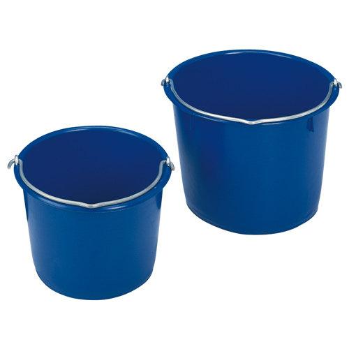 Kunststoffkübel blau, 12 Liter