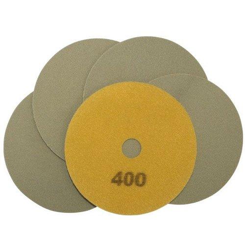 Schleifscheiben gelb, Ø 100 x 15 mm, Körnung 400, 5 Stück, Art.-Nr. 50498