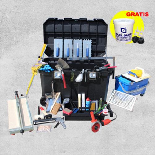 Werkzeugausrüstung Fliesenleger